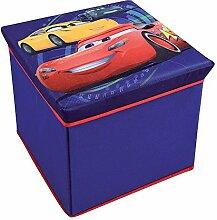 Fun House 712768Hocker Aufbewahrungsbox für Kinder untisse/MDF Blau 30x 30x 30cm