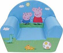 Fun House Peppa Pig Sessel Club für Kinder, Bezug Polyester/Schaumstoff Polyether, 52x 33x 42cm