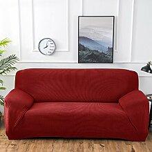 Fun life 1 stück Polyester Spandex Jacquard Sofa abdeckungen Stricken Stoff Stretch Sofa Slipcovers Anti-Rutsch-Möbel Cover Protector-Rot Sessel