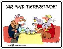 Fun Schild, Blechschild Alu geprägt + bedruckt