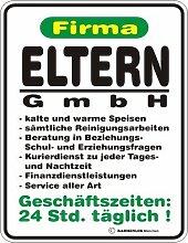 Fun Schild - Firma Eltern GmbH