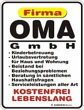 Fun Schild - Firma Oma GmbH