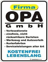 Fun Schild - Firma Opa GmbH