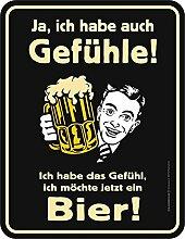 Fun Schild - Gefühl noch ein Bier