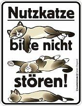 Fun-Schild - Nutzkatze, 17 x 22 cm