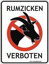 Fun-Schild - Rumzicken verboten, 17 x 22 cm