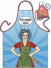 Fun/Spaß-Themen-Schürze/Grill/Kochschürze lustiges Motiv: Für immer Dein! - Geschenk-Set inkl. Mini-Schürze