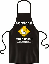 Fun Spruch Grillschürze Vorsicht! Mann kocht!