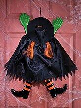 Fun World Funny Rückwärts Hexe orange zum Aufhängen Halloween Dekoration