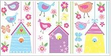 Fun4Walls Vogel Häuser Wand Aufkleber