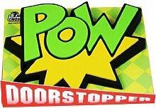 Funday Türstopper Comic - POW grün aus Gummi
