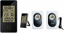Funk Sauna Thermometer Froggit WS80, Außensensor, Uhrzeit, Saunamessung