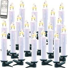 FUNK-Weihnachtsbaum-LED-Kerzen mit