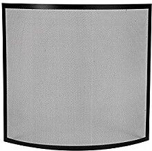 Funkenschutzgitter 66x61cm Metall schwarz Kaminschutzgitter Kamingitter