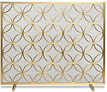 Funkenschutzgitter Single Panel Gold Eisen Kamin