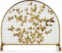 Funkenschutzgitter Single Panel Kaminschirm Gold -