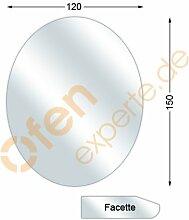 Funkenschutzplatte, Glasbodenplatte mit Facette,