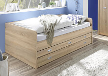 Funktionsbett Alaska 120x200 cm braun Betten mit