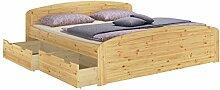 Funktionsbett Doppelbett + 3 Bettkasten + Rollrost
