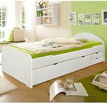 Funktionsbett Finnick mit Schubladen, 90 x 200 cm