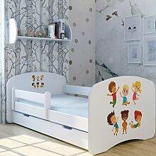Funktionsbett Lustige Kinder mit Matratze und