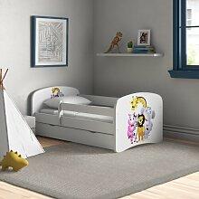 Funktionsbett Rodrigue mit Matratze und Schublade