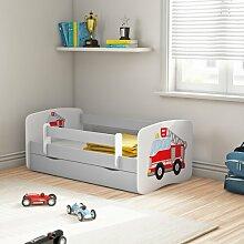Funktionsbett Sahin mit Matratze und Schublade