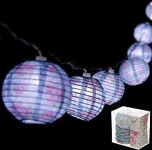 Funky blau und rosa Blumen Chintz Papier