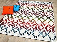 Funky Designer Teppich Ethno Multicolour Bunt in 4