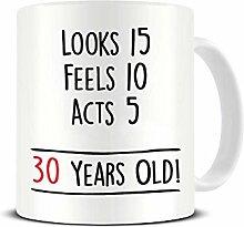 Funky NE Ltd Kaffeebecher zum 30. Geburtstag -