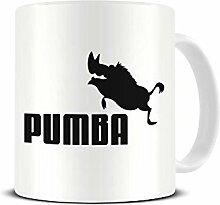 Funky NE Ltd® Kaffeetasse aus Keramik mit Pumba