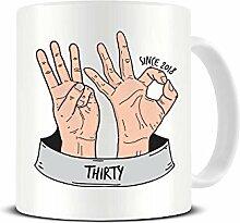 Funky NE Ltd Kaffeetasse zum 30. Geburtstag,