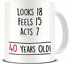 Funky NE Ltd Kaffeetasse zum 40. Geburtstag –
