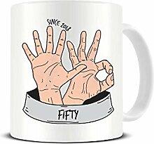 Funky NE Ltd Kaffeetasse zum 50. Geburtstag,