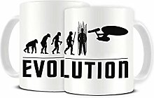 Funky NE Ltd Keramik-Kaffeetasse, Motiv: Evolution