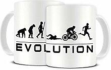 Funky NE Ltd Keramik-Kaffeetasse, Motiv Evolution
