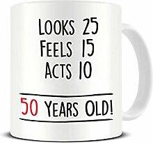 Funky NE Ltd Keramik-Kaffeetasse zum 50.