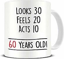 Funky NE Ltd Keramik-Kaffeetasse zum 60.