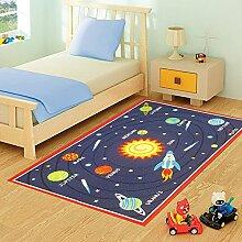 FunkyBuys Kinder-Spielteppich, Motiv Planeten/Galaxie, modernes Design, rutschfest,3Größen, 100cm x 133cm