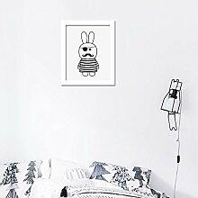 funlife Cartoon Piraten Kunstdruck auf Leinwand poster, Wandbilder für Kinderzimmer Dekoration, Rahmen nicht enthalten CP022, canvas, multi, no frame 30x40cm