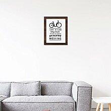 funlife Inspiration Zitat und Fahrrad Leinwand Kunstdruck, CP025Fotos, für Kind-, Gemälde Poster Plakat Rahmen nicht, canvas, multi, no frame 30x40cm