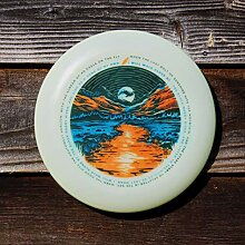 Funn & Frolic - USA Muddy River Poster Art Frisbee