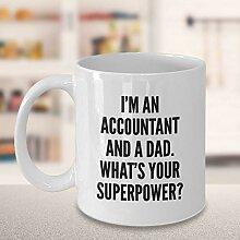 Funny Accountant Dad Kaffeetasse Coole