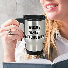 Funny Airforce Wife Mug Travel Mug Gifts for Air