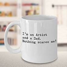 Funny Artist Dad Kaffeetasse Maler Papa Geschenk