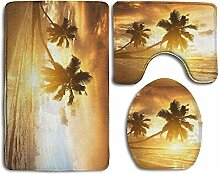 Funny Caps Hawaii Sunrise Palm Tree Skidproof