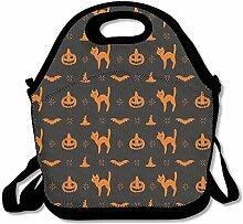 FUNNY Cat Halloween Print Lunch Bag Tote Handbag