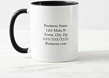 Funny Coffee Mug Business Logo And Information