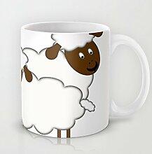 Funny das schwarze schaf Kaffee Tasse Keramik Geschenk Kaffee Tee Kakao Kaffee Cup 11Oz Tasse Best Funny Geschenk Weihnachten Geschenke für Männer Weihnachten Geschenke für Frauen