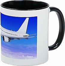 Funny Flugzeug in the Sky Landung Away Kaffee